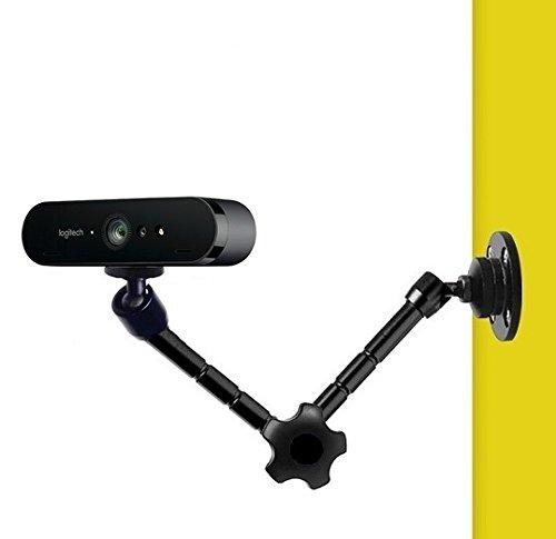 AYIZON Webcam supporto da parete, braccio supporto per Logitech webcam Brio 4K, C925E, C922x, C922, C930E, C930, C920, C615-27,9cm lunghezza