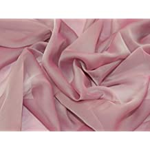 0fae42d5b83b kationisch Chiffon Kleid Stoff, Meterware, Rose Pink + Frei Minerva Crafts  Craft Guide