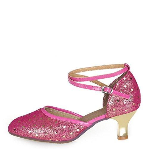 Wxmddn Ladiesscarpe Ballet Chaussures Chaussures De Danse Tango Gymnastique Danse Jazz Chaussures Chaussures De Danse Chaussures Pratique Performance Chaussures De Danse Pour Les Femmes Femmes Red Paon Pattern Red