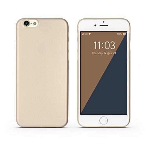 C0V3R case kompatibel mit iPhone 6/6s Hülle, dünn (0,3 mm), Schutz vor Kratzer/Stöße, Gold