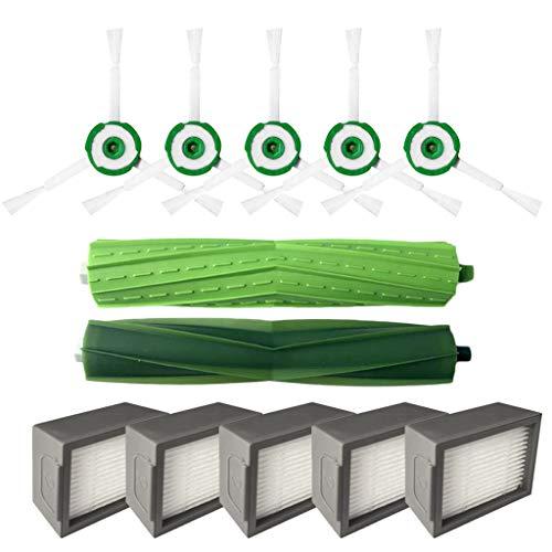 Gaddrt Staubsaugerfilter Seitenbürste Filter Seitenbürste Hepa-Filter Borstenbürste für iRobot Roomba i7 i7 + / i7 plus E5 E6 E7 Cleaner