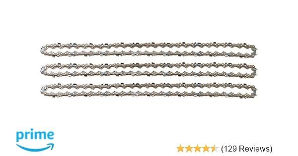 """4 Ketten passend für Dolmar 105 30 cm 3//8/"""" 45 TG 1,3mm Sägekette chain Schwert"""