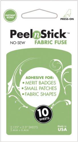 Unbekannt Therm-o-Web Peel N Stick Stoff Sicherung selbstklebend für kleine Wappen und Patches, weiß