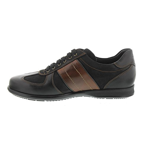 Galizio Torresi Sneaker, Foulard (Glattled.) Nero, Nabuk Nero 314166 Schwarz / Braun