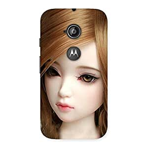 Cute Lovely Doll Multicolor Back Case Cover for Moto E 2nd Gen
