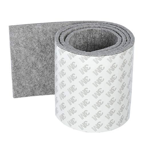 OFNMY Almohadillas Muebles - Almohadillas de Fieltro Adhesivas Espesor 4 mm para Protector Muebles Antideslizante, Muebles Madera, Resistente a los Arañazos (Gris)