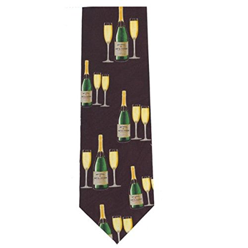 Novelty Tie - Champagne & Glasses