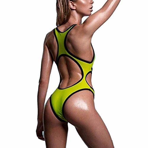 QIYUN.Z Costumi Da Bagno Benda Costume Da Bagno Bikini Sexy Delle Donne Verde