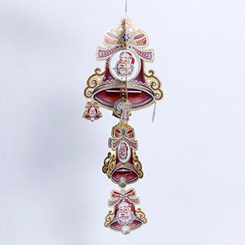 Layout di forniture ornamenti di natale decorazioni di Natale i regali dell'albero di Natale decorazione campana a sospensione,20 * 20cm