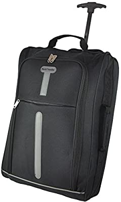 World Traveller Flight Approved Feather Light Weight Cabin Carry On Hand Luggage Roller Suitcase Bag Trolley Perect for Easyjet Ryanair Thomas Cook