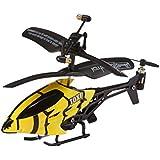 Revell Control RC Helikopter XS, ferngesteuerter Hubschrauber für Einsteiger, 3-CH IR Fernsteuerung, einfach zu fliegen, elektrischer Gyro, sehr stabil, USB-Ladekabel, nur Indoor - TOXI gelb 23916