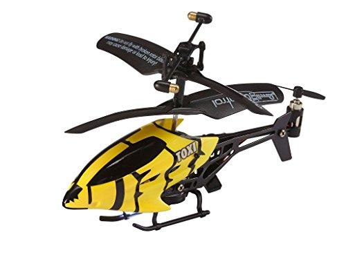 *Revell Control RC Helikopter XS, ferngesteuerter Hubschrauber für Einsteiger, 3-CH IR Fernsteuerung, einfach zu fliegen, elektrischer Gyro, sehr stabil, USB-Ladekabel, nur Indoor – TOXI gelb 23916*