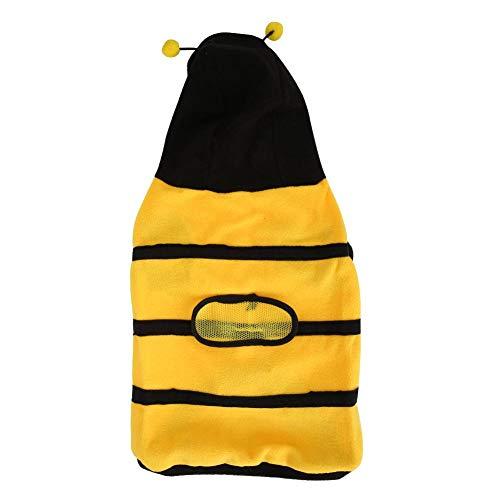 Kostüm Pet Bumblebee - Pssopp Cute Bee Haustier Hund Mantel Apperal Dog Bee Kostüm Pet Party Kleidung Pet Cute Coat Puppy Halloween Kleidung Bumblebee Apperal mit Hoodies(12号)