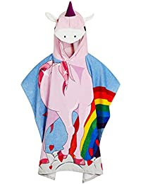 1c84702aaa Quality 100% Cotton Boys Girls Kids Childrens Hooded Poncho Swimming Bath  Towel