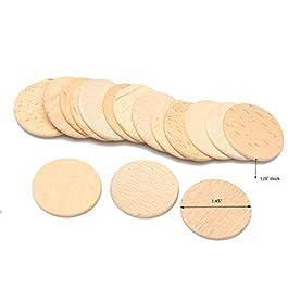 100 dischi in legno lisci e non rifiniti con cerchi in legno, tagliati in legno, tagliati a fette, l