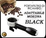 BRACCETTO PORTAFILTRO BLACK PER MOKONA BIALETTI GAGGIA G107 NUOVO NERO