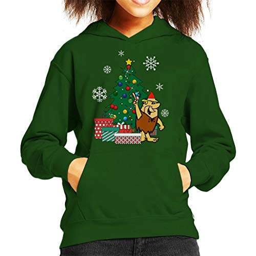 Cloud City 7 Barney Rubble Around The Christmas Tree Kid's Hooded Sweatshirt -