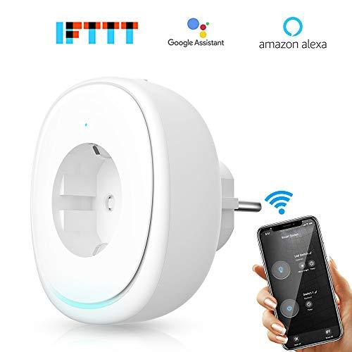 WLAN Smart Steckdose, VegaHome Intelligente Plug Wifi Stecker mit Mini Lampe und 2 USB Ports, Stromverbrauch messen Timer Funktion Kompatibel mit Alexa [Echo, Echo Dot], Google Home und IFTTT