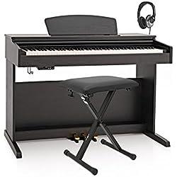 Piano Digital DP-10X de Gear4music + Pack de Accesorios - Negro Mate