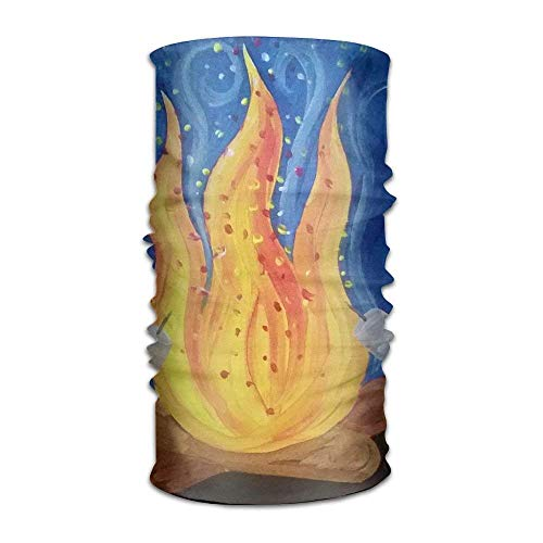 VTXWL Campfire Barbecue Painting Fashionable Outdoor Hundred Change Headscarf Original Multifunctional Headwear -
