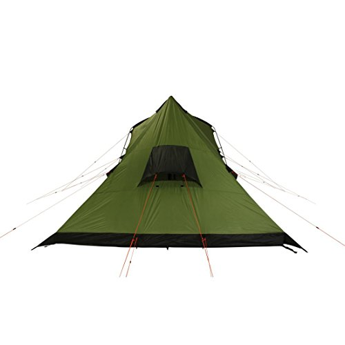 41an9k8IXlL. SS500  - 10T Outdoor Equipment Unisex's Tropico 4 Tunnel Tent, Green, One Size/4 Persons