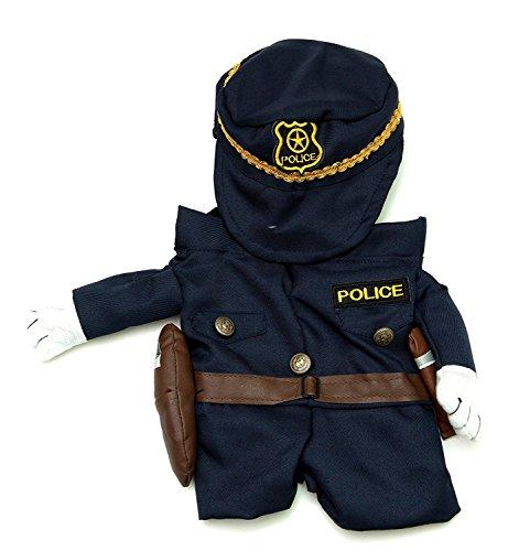 Midlee Fake Armen Polizist Kostüm (Kleine Hunde Groß) -