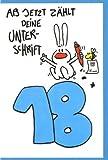 Riesen-Grußkarte Humor 18 Ab jetzt zählt deine Unterschrift A4