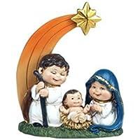 CAPRILO Figura Decorativa Religiosa de Resina Nacimiento Original. Adornos y Esculturas. Belenes. Decoración