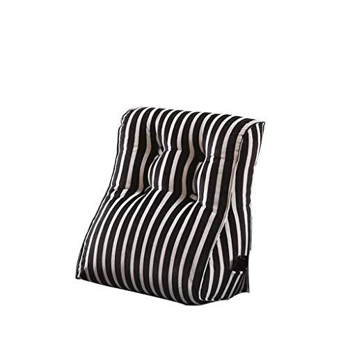 GHMOZ Comodino Cuscino Triangle Bed Cover Cuneo Indietro Cuscino Vita da Letto Lavabile a Due Colori (a Colori, A, Dimensioni, 55X60cm) (Color : B, Size : 55X60cm)