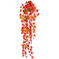Best Artificial 100cm Trailing Ivy Garland Hanging Vine String Plant (Two Tone Autumn English - TI15)