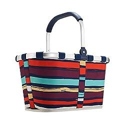 reisenthel carrybag artist stripes  Einklaufskorb 48 x 29 x 28 cm, 22 Liter