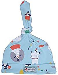 990594d1a92 Piccalilly Organic Cotton Blue Unisex Baby Arctic Animal Knot Hat