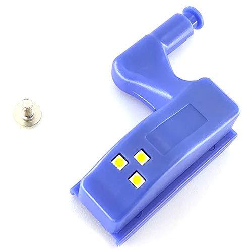 matische Led Innenscharnier Licht Schrank Kabinett Intelligente Induktionslampe Nachtlicht Batteriebetrieb Für Schlafzimmer Küche Wohnkultur (10 Stücke Wei?es Licht) ()