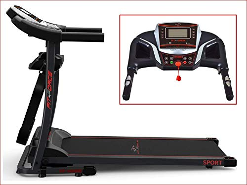 Fit-Force Cinta de Correr Plegable 1600W con masajeadora USB AUX