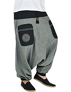 Pantalones bombachos hombre con Mandala bordada de alta calidad en el bolsillo lateral. Los pantalones GPA de...