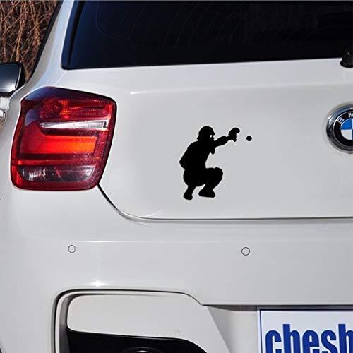 aufkleber auto 11,8 x 12 cm schöne Cartoon Baseball Auto Aufkleber s Silhouette für Auto Laptop Fenster Aufkleber