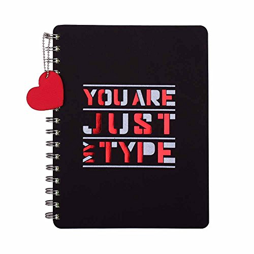 Doodle Love Struck Diary Notebook, Valentines Day Gift for Girlfriend, Valentines Day Gift for Boyfriend, Birthday/ Anniversary Gift