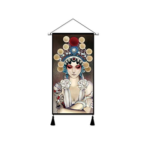 YXLZZO Ópera Flor Dan tapicería algodón Lino Arte
