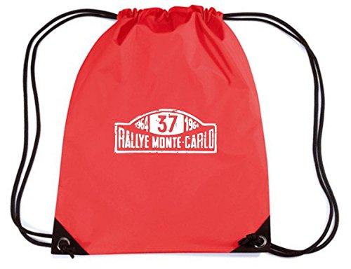 T-Shirtshock - Mochila Budget Gymsac TB0185 Mini Cooper S Monte Carlo Rally Auto T shirt vintage, Talla Capacidad 11 litros