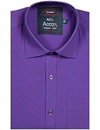ACCOX Purple Half Sleeve Regular Fit Plain Formal Shirt For Man,Formal Shirts,100% Cotton Shirts,Plain Shirts...