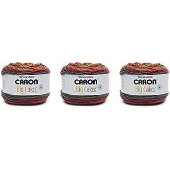 Moyen Rainbow Jellys Acrylique Caron 296617 Chunky Cakes-280g-Rainbow