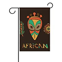 "DragonSwordlinsu COOSUN African Mask And Amulets Polyester Garden Flag Outdoor Flag Home Party Garden Decor, Double Sided, 12"" x 18"""