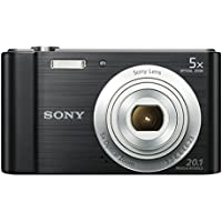 Sony DSC-W800 Digital Compact Camera Bundle (20.1 MP, 5x Zoom, 2.7 LCD, 720p HD, 23 mm Sony G Lens) - Black