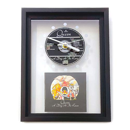 QUEEN - A Day At The Races: GERAHMTE CD-WANDUHR/Exklusives Design