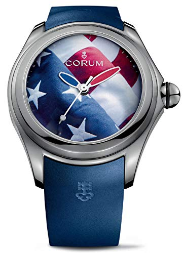 Corum Big Bubble 52 Flag Titanium Automatic American Flag Dial Blue Rubber Strap Mens Watch 403.101.04/0373 US01