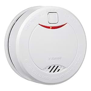 X-Sense Rilevatore di Fumo (DS32) 10-Anni Autonomia Allarme Antincendio con Sensore Fotoelettrico, 1 Confezione