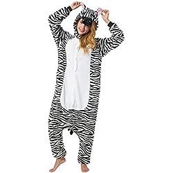 Katara (10+ Modelos) Kigurumi Pijamas Disfraz Animal Halloween Adultos Cebra Talla 145-155cm