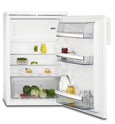 AEG RTB81421AW Kühlschrank mit Gefrierfach / freistehender Kühlschrank mit Abtauautomatik / 133 Liter Kühlschrank / 18 Liter Gefrierfach / 4-Sterne-Gefrierfach und Glasablagen / A++ (147 kWh/Jahr) / Höhe: 85 cm / weiß Fach Für Gefriertruhe