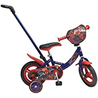 Toimsa 10 Spiderman Licensed Children's Bicycle with Rod 2 to 3 Years Old, 1028u