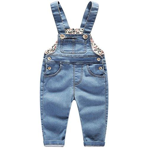 Bebé Pantalones Peto Vaqueros Overalls Niños Niñas